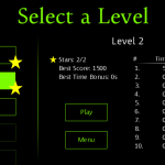 Maze Escape - Select Level Screen
